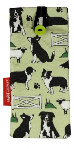 Selina-Jayne Border Collie Dogs Limited Edition Designer Soft Glasses Case